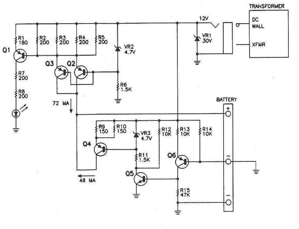 Схема медленного зарядного